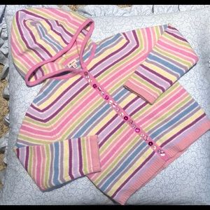 Gorgeous Lambswool Angora Striped hooded sweater